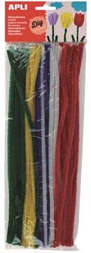 Apli chenilles, blister de 50 pièces, couleurs assorties