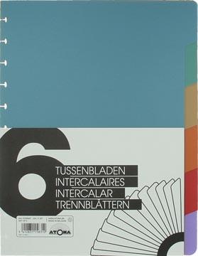 Atoma Accessoires pour cahiers, jeu de 6 intercalaires en PP en 6 couleurs