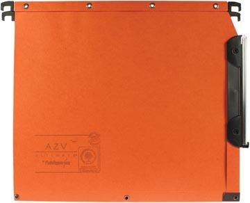 L'Oblique dossiers suspendus pour armoires AZV fond 30 mm, orange