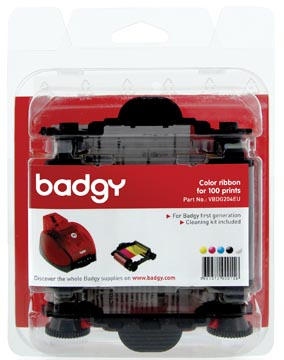 Badgy ruban couleur pour Badgy1, 100 impressions