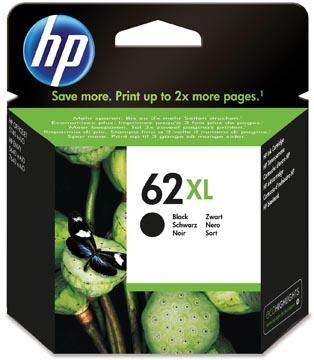 HP cartouche d'encre 62XL, 600 pages, OEM C2P05AE, noir