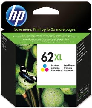 HP cartouche d'encre 62XL, 415 pages, OEM C2P07AE, 3 couleurs