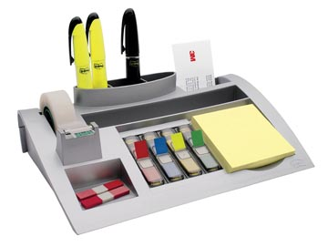 Post-it Index desk organizer, zilver, pour ft 26 x 16,5 x 5,5 cm