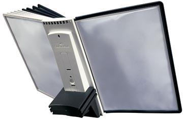 Durable Table Sherpa 10 module d'extension pour réf. D563200: paquet de 10 plaques-pochettes gris/noir