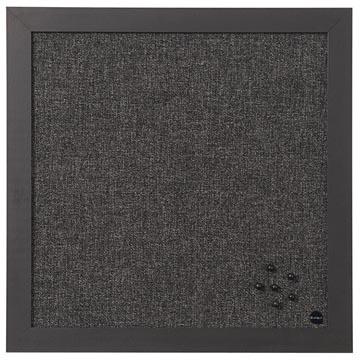 Bisilque Tableau d'affichage Black Shadow gris foncé