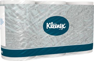 Kleenex papier toilette, 3 plis, 350 feuilles, paquet de 6 rouleaux