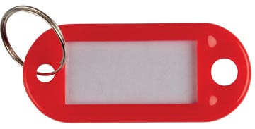 Q-Connect porte-clés, paquet de 10 pièces, rouge