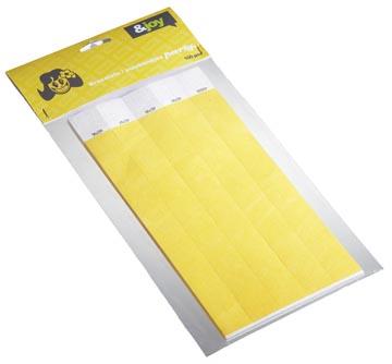 Orakel bracelets en Tyvek, jaune, paquet de 100 pièces