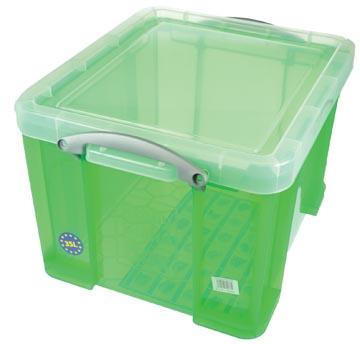 Really Useful Box boîte de rangement 35 l, vert transparent