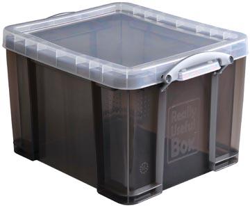 Really Useful Box boîte de rangemen 35 litres, transparent fumé