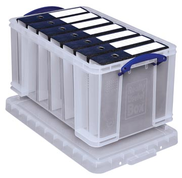 Really Useful Box boîte de rangement 48 l, transparent