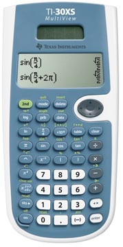 Texas Calculatrice scientifique TI-30XS Multiview, alimentation solaire et par piles