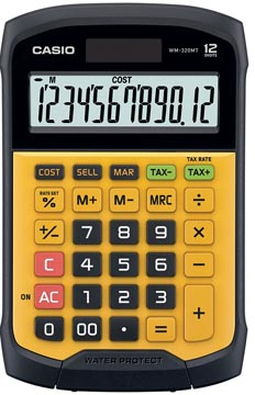 Casio calculatrice de bureau imperméable à l'eau WM-320MT