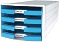 Han blac à tiroirs Impuls, tiroirs ouverts, Trend Colour bleu clair